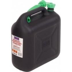 Jerrycan kunststof zwart 10L