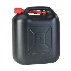 Jerrycan kunststof zwart 20L
