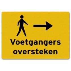 Verkeersbord Voetgangers Oversteken