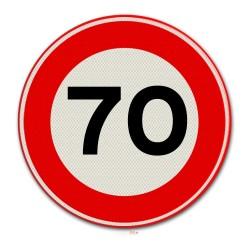 Verkeersbord A01-70 Max. snelheid 70 km per uur