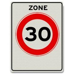 Verkeersbord A01-30-ZB Zone met max. snelheid 30 km/u