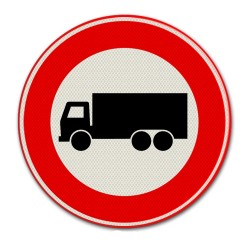 Verkeersbord C07 – Gesloten voor vrachtauto's