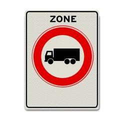 Verkeersbord C07zb – Zone Gesloten voor Vrachtauto's