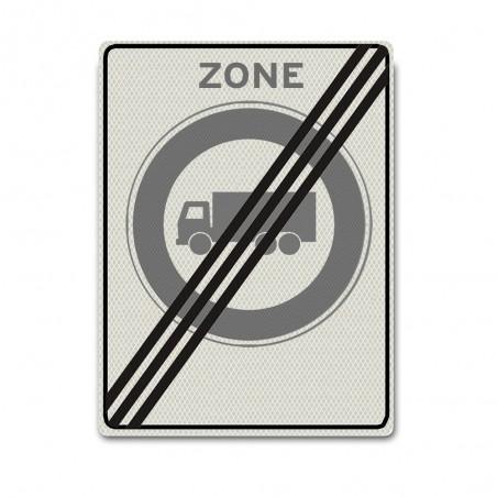 Zonebord C07ze – Einde zone Gesloten voor vrachtauto's