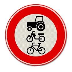 Verkeersbord C09 – Gesloten voor Langzaam verkeer