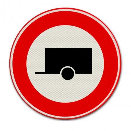 Verkeersbord C10 –  Gesloten voor aanhangers.