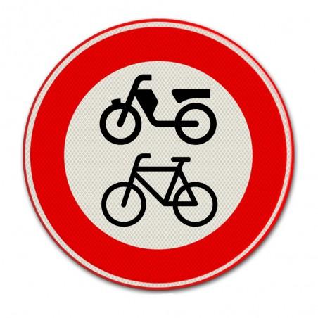 Verkeersbord C15 – Gesloten voor fietsen en bromfietsen