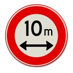 Verkeersbord C17 – Gesloten voor te lange voertuigen