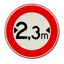 Verkeersbord C18 Gesloten voor te brede voertuigen