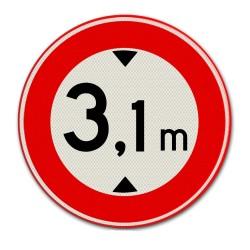 Verkeersbord C19 Gesloten voor voertuigen hoger dan op het bord is aangegeven