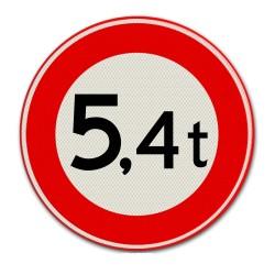 Verkeersbord C21 – Gesloten voor te zware voertuigen