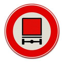 Verkeersbord C22 Gesloten voor voertuigen met bepaalde gevaarlijke stoffen