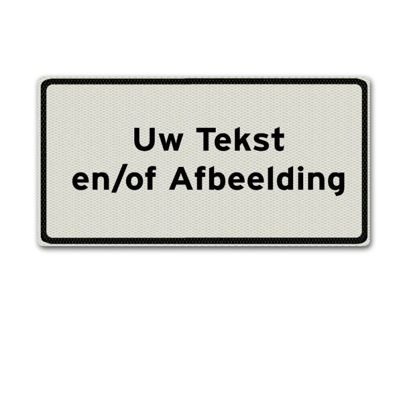 Aluminium onderbord / tekstbord 60 x 30 cm