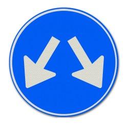 Verkeersbord D03 Passeren aan beide zijden toegestaan