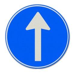 Verkeersbord D04 Gebod tot volgen van rijrichting