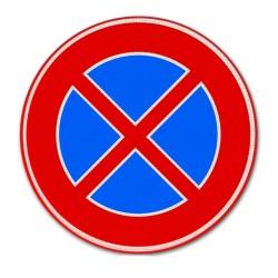 Verkeersbord E02 – Verboden stil te staan