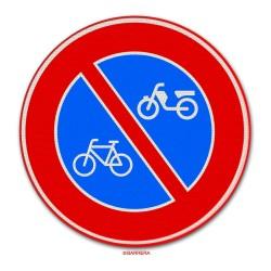 Verkeersbord E03 – Parkeerverbod fietsen en bromfietsen