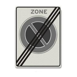 Zonebord E01ze - Einde zone parkeerverbod