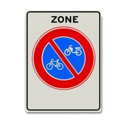 Verkeersbord E03zb Zone met verbod bromfietsen en fietsen te plaatsen