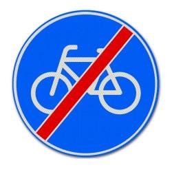 Verkeersbord G12 Einde verplicht fietspad