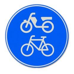 Verkeersbord G12A – Verplicht fiets / bromfietspad