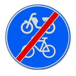 Verkeersbord G12B Einde verplicht fiets / bromfietspad