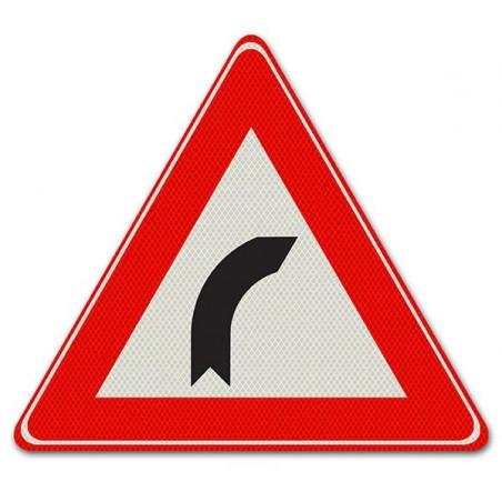 Driehoeksbord J02 – Bocht naar rechts