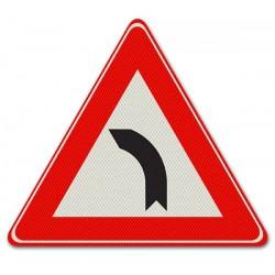 Driehoeksbord J03 – Bocht naar links