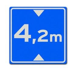 Vierkant verkeersbord L1 Hoogte onderdoorgang