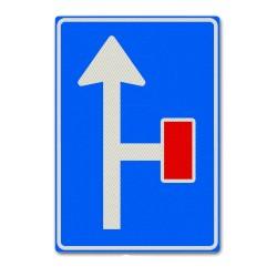 Verkeersbord L09-02r – Doodlopende weg rechts