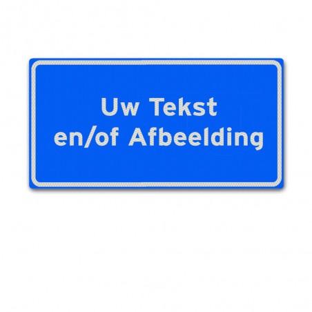 Aluminium tekstbord 40 x 20 cm Blauw